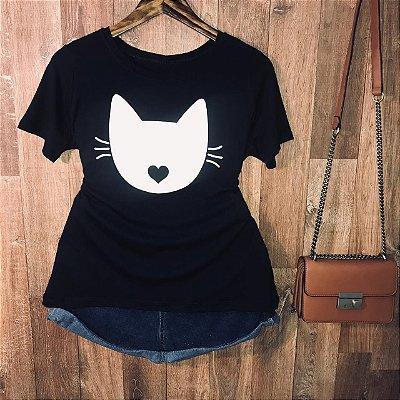 Camiseta Cat with love kiss