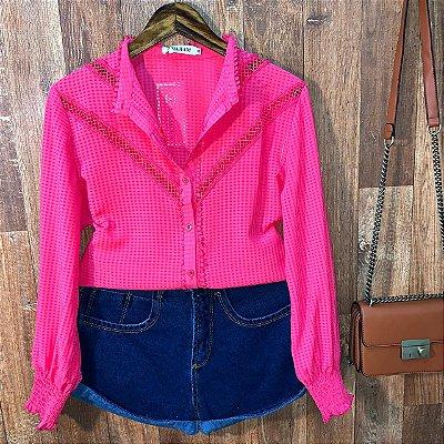 Camisa Delicada Top Sarah Pink