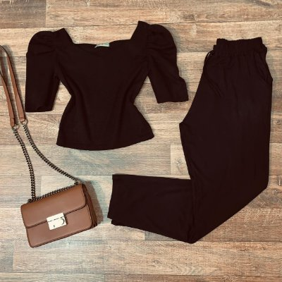 Calça Viscolycra com Bolso Black