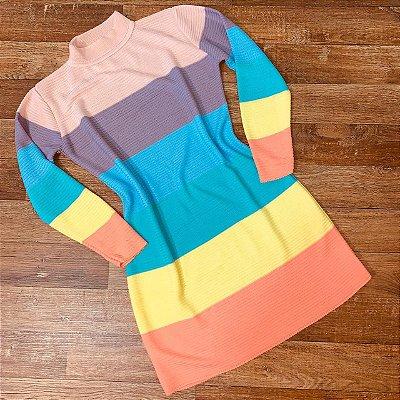 Vestido Tricot Rainbow Colors Sarah