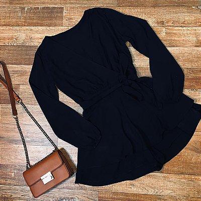 Macaquinho Transpassado Fashion Black