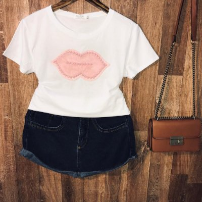 T-shirt Top Boca White
