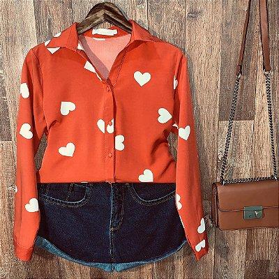 Camisa Heart e Botões Encapados Sarah Terra