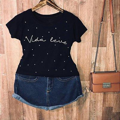 T-shirt Vida Leve poá