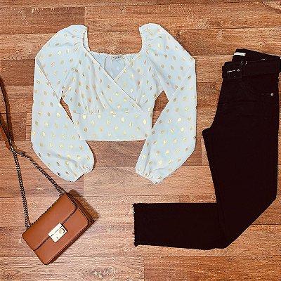 Calça Jeans Dardak Cigarrete Colors com Cinto 1974 Black