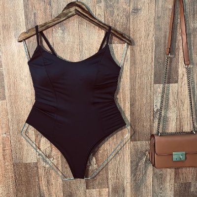 Body Alcinha Basic Poliamida Black