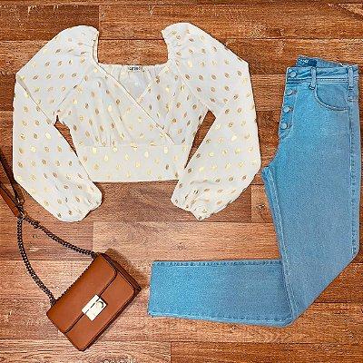 Calça Alcance Jeans Mom Comfort