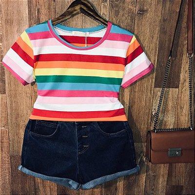 T-shirt Fashion Listras Collors Top C