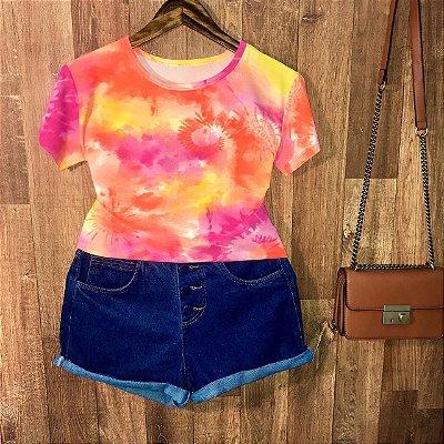 T-shirt Tie Dye Style Modelo Curto