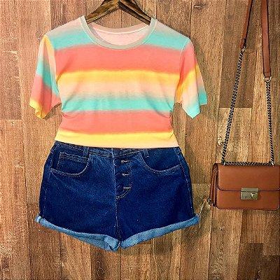 T-shirt Podrinha Tie Dye Listras Style C