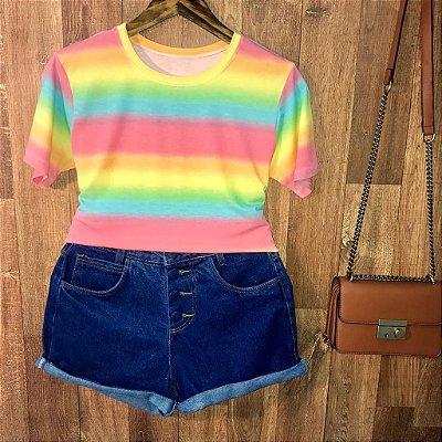 T-shirt Podrinha Tie Dye Listras Style B