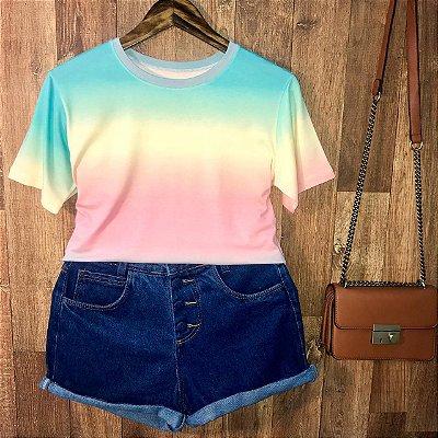T-shirt Podrinha Tie Dye Listras Style A