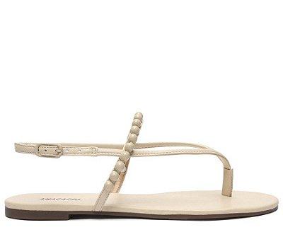 Sandália Branco Bone Bolinhas Ana Capri