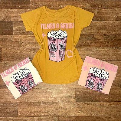 T-shirt Filmes e Series + Pipoca