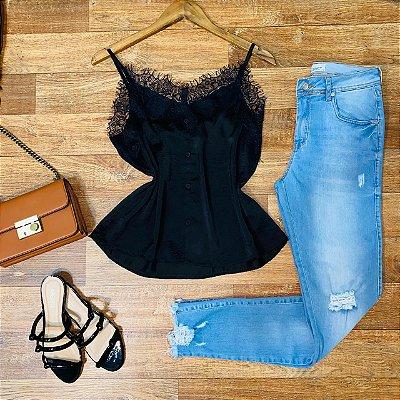 Calça Jeans Dardak Cigarrete Marisa 2156 Azul Claro