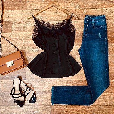 Calça Jeans Dardak Skinny Stone 2072 Azul Escuro