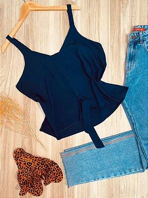 Blusa de Alcinha de amarrar LB Azul Marinho
