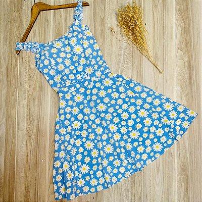 Vestido Alcinha e Lastex Margarida Luana Azul