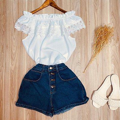 Blusa Ciganinha com Renda Luana Branco