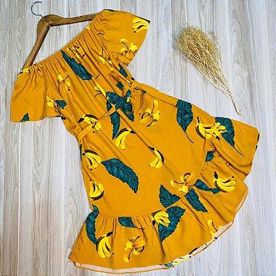 Vestido Ciganinha Luana Tropical Amarelo
