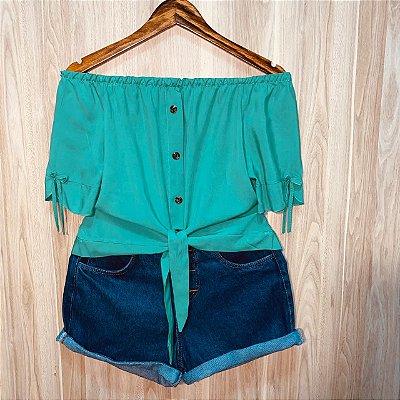 Blusa Ciganinha Cropped de amarrar Luana Lisa