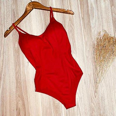 Body Alcinha Basic Rebeca Vermelho