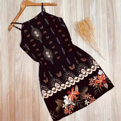 Vestido Alcinha Curto Butterfly Rebeca Preto
