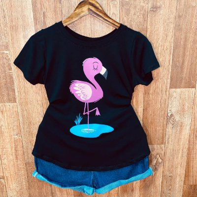 T-shirt Flamingo Fofo