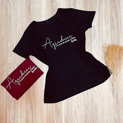Camiseta Agradecer é a Arte de Atrair Coisas... Boas.