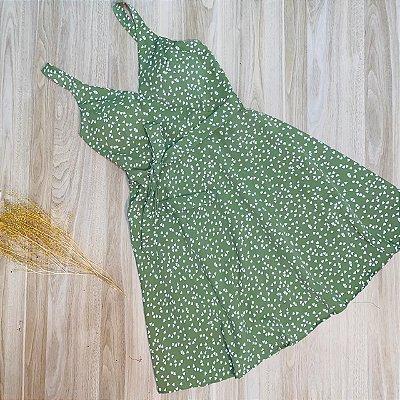 Vestido Alcinha Monalisa Mini Corações Verde