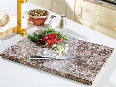 Tábua De Carne De Granito Marrom 50 CM x 25 CM Polida Em Um Lado
