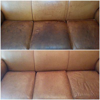 Sofá De Couro (Retrátil Ou Chaise) - Limpeza Higienização e Hidratação