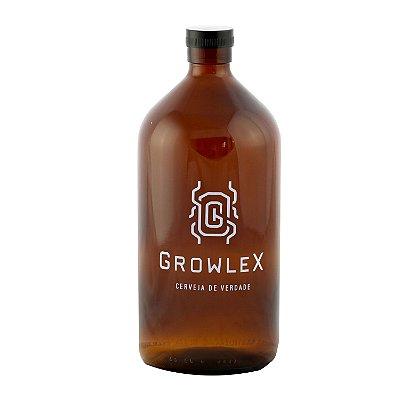 Growler Vidro Remédio (Escaravelho) - 1 Litro