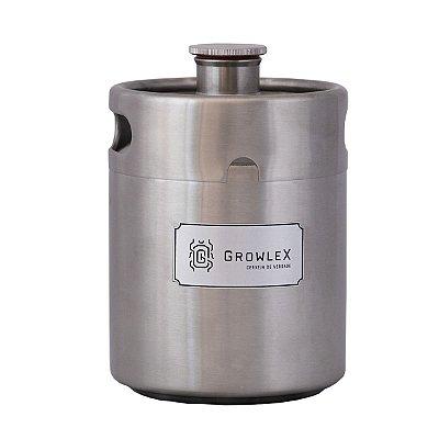 Growler Inox Barril (Escaravelho PL) - 2 Litros