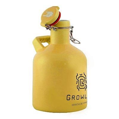 Growler Cerâmica Flip Top Alça Quadrada (Escaravelho) - 1 Litro