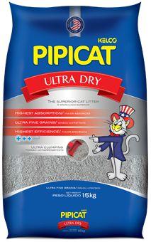 Areia Para Gatos Pipicat Ultra Dry 15kg