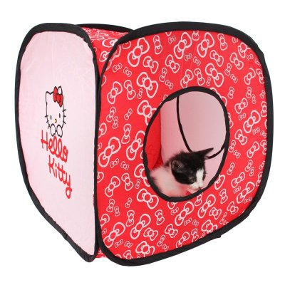 Túnel Rosa Flexível para Gatos - Hello Kitty