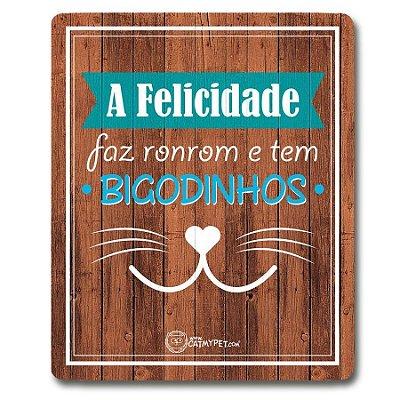 Placa Decorativa Madeira - Bigodinhos