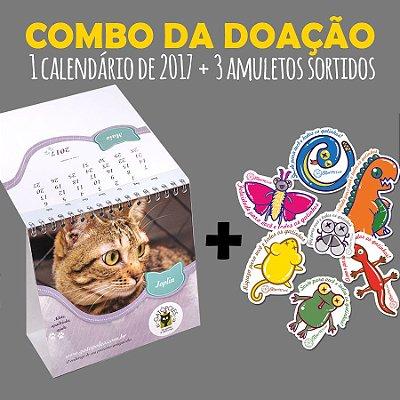 Combo da Doação - 1 Calendário de 2017 + 3 Amuletos