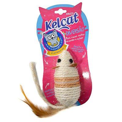 Brinquedo Para Gatos Kelcat Ratinho de Sisal