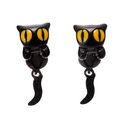 Brinco Cat Olho Amarelo 3d