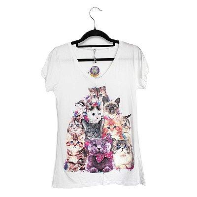Blusa Gatinhos Coloridos