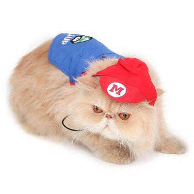 Roupinha Fantasia Super Mario Bros Gato