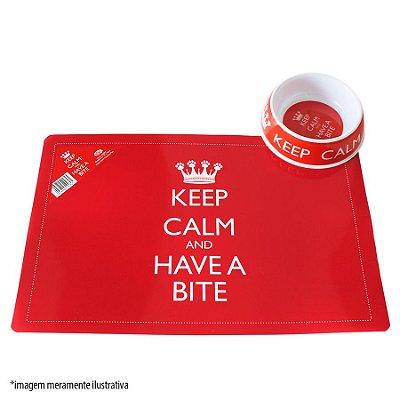 Jogo Americano Vermelho Keep Calm