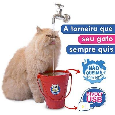 Bebedouro Fonte para Gatos Torneira MagiCat