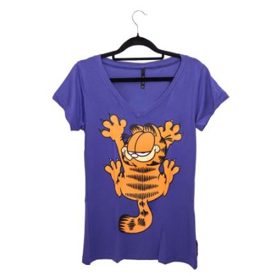 Camiseta Roxa Gato Garfield Arranhadinho