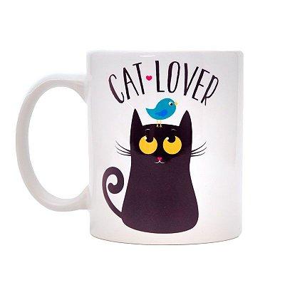 Caneca Gato Preto Cat Lover