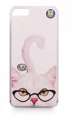 Capa Para Celular iPhone 5-5S Gato Branco