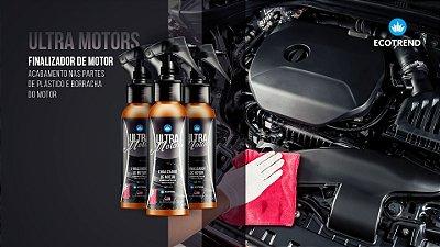 """Ultra Motors - Utilizado, para acabamentos perfeitos na área do motor, agindo de forma rápida, rentável e eficiente, dando o aspecto de """"novo"""", conservando suas características originais"""