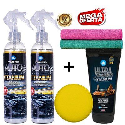 Promoção Especial - 2 Auto Protection Titanium 300ml + 1 Ultra Finish Titanium + Brindes
